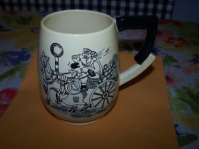 "Vintage Carlton Ware Mug ~Orange Cart ~Man on Lamp Post/Police ~ England ~ 5"" H"