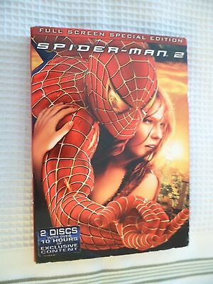 Spider-Man 2 (DVD, 2004, 2-Disc Set, Special Edition, Fullscreen) w/Slipcover