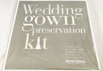 Wedding Gown Preservation Kit New in Box Davids Bridal Dress Storage $189 Retail