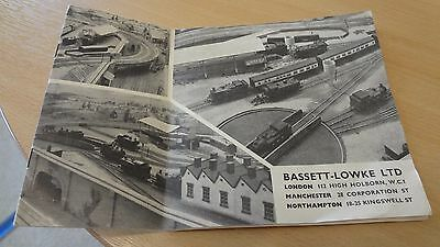 C 1957  Bassett-Lowke Ltd Model Railways  Price List Catalogue Booklet.