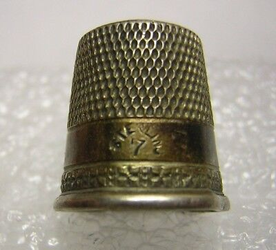 Thimble (  Simons Bros. ) Sterling Silver ... marked: Sterling & 7