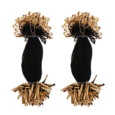 200 Pieces  Tag Cotton Fasteners Bullet Pin Tie String 10cm Bronze