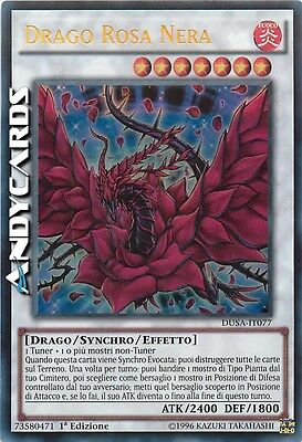 Drago Rosa Nera ☻ Ultra Rara ☻ DUSA IT077 ☻ YUGIOH ANDYCARDS