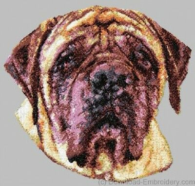 Embroidered Long-Sleeved T-Shirt - Mastiff DLE1621  Sizes S - XXL