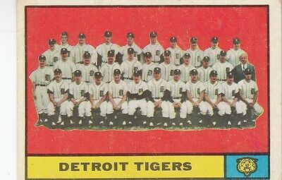 Topps 1961 #51 Detroit Tigers Team Card