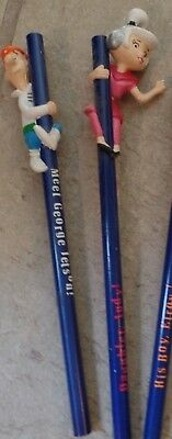 Hanna-Barbera - The Jetsons - George & Judy Pencils NEW from 1990