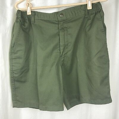Boy Scouts Of America Mens 36 Cargo Uniform Cargo Shorts OD Green Elastic Waist
