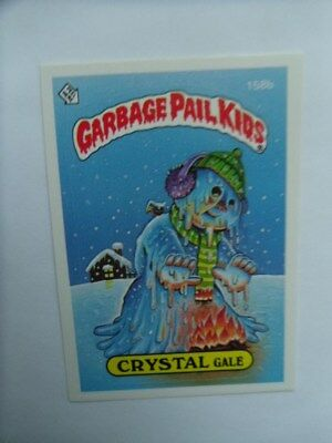1986-GARBAGE PAIL KIDS-#158b-Crystal Gale Card.