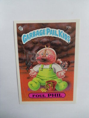 1985-GARBAGE PAIL KIDS-#70b-Foul Phil Card.