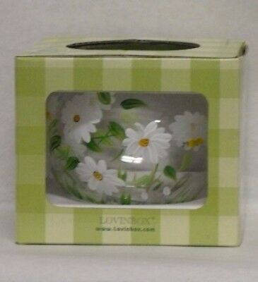 Lovinbox Hand-Painted White Flower Candle Holder