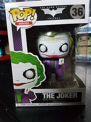 Funko Pop! 36 The Joker Batman the Dark Knight Trilogy Figur Neu Heros
