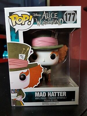 Funko Pop! 177 Mad Hatter Alice in Wonderland Figur Neu Hutmacher Disney