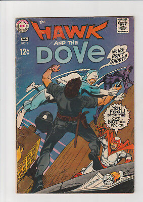 The Hawk and the Dove #4 (1969, DC) G+ Ditko