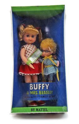 Vintage 1967 Family Affair Mattel Buffy & Mrs. Beasley Toy Doll Mint in Box 3577