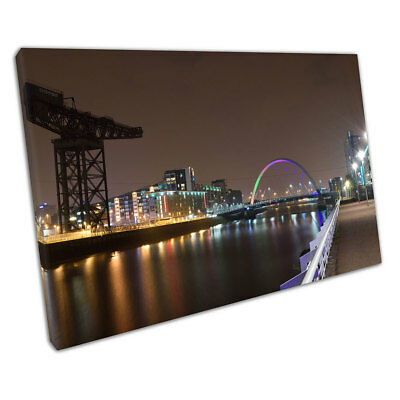 city of Glasgow at night Squinty bridge river Clyde Scotland Ready to Hang X1518