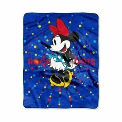 "Disney Minnie Mouse 'Rock the Dots' 40"" x 50"" Silky Soft Throw Blanket"
