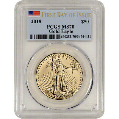 2018 American Gold Eagle (1 oz) $50 - PCGS MS70 - First Day of Issue