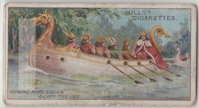 Eight Princes Rowing Edgar The Peaceful King Down The Dee 100+ Y/O Trade Card