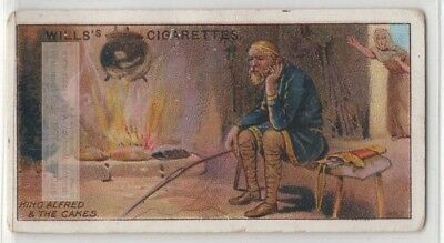 King Alfred The Great Scolded For Burning Wheaten Cakes 100+ Y/O Trade Card