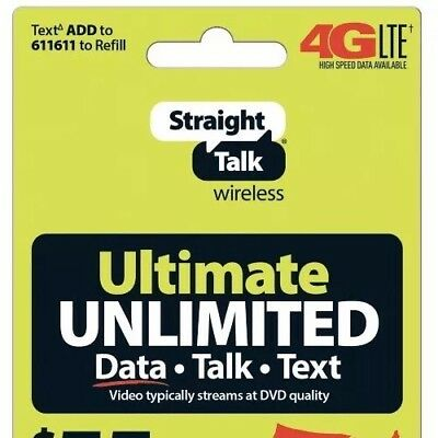 STRAIGHT TALK UNLIMITED Service Refill Top Up 30 Day Save