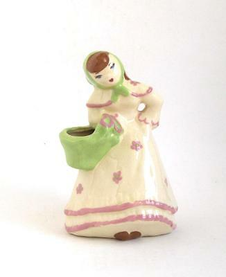 Weil Ware California Figural Vase Girl With The Green Scarf