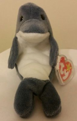 Ty Beanie Baby ~ ECHO the Dolphin ~ MINT with MINT TAGS ~ RETIRED