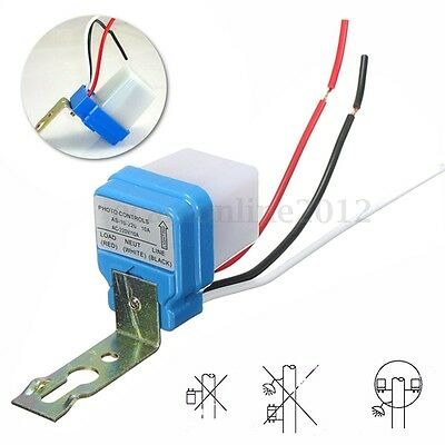Automatic Auto On Off Street Light Switch Photo Control Sensor for 10A AC 220V