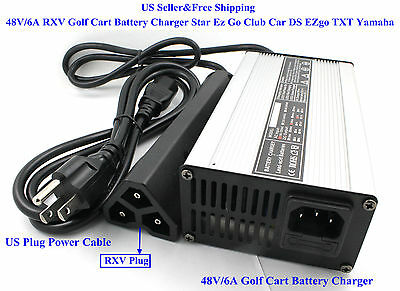 US 48V/6A RXV Golf Cart Battery Charger Star Ez Go Club Car DS EZgo TXT Yamaha