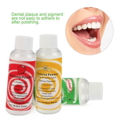 Dental Prophy Mate Air jet Polisher Prophy Powder Cleaning  Powder 3 Flavours eb