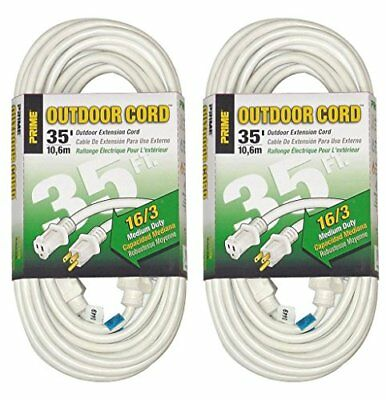 Prime Wire & Cable EC883627 35-Foot 16/3 SJTW Patio and Deck Extension Cord W...