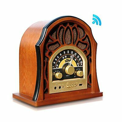 Vintage Style Bluetooth Radio - Classic Design Stereo Speaker System