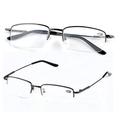 Mens UltraLight Black METAL Near Sighted Short Distance Glasses Myopia  -1 to -6