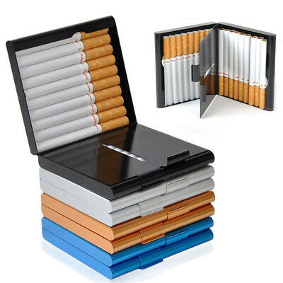 New Slim Aluminum Metal Cigar Pocket Cigarette Box Holder Tobacco Storage Case