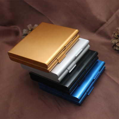 Metal Cigar Cigarette Case Aluminum Tobacco Holder Storage Container Pocket Box