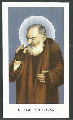 Estampa del Padre Pio  santino image pieuse andachtsbil holy card