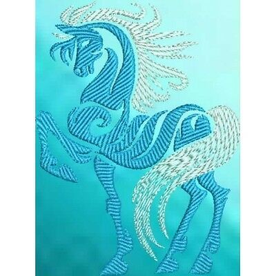 Large Embroidered Zippered Tote - Tribal Horse S2-04