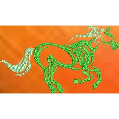 Large Embroidered Zippered Tote - Tribal Horse S1-02