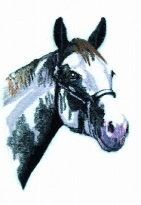 Large Embroidered Zippered Tote - Black & White Horse BT4453