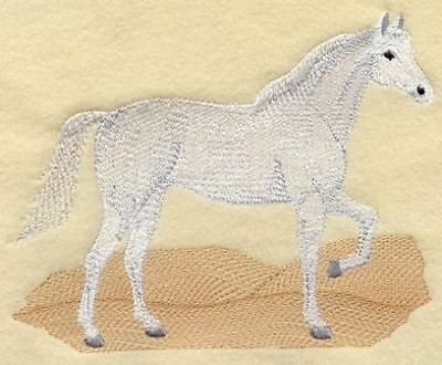 Large Embroidered Zippered Tote - Arabian Horse M1696