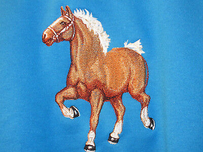 Large Embroidered Zippered Tote - Belgian Horse BT3726