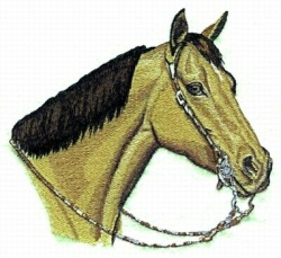 Large Embroidered Zippered Tote - Quarter Horse BT2339