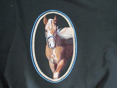 Large Embroidered Zippered Tote - Palomino Horse BT4457
