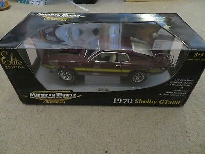 American Muscle Elite 1970 Shelby GT500 Cobra 1:18 Scale MISB 2004 See My Store