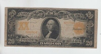 Gold Certificate $20 1906 vg stains