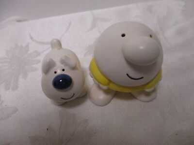 Vintage 1979 Ziggy & Fuzz Salt & Pepper Set with stoppers