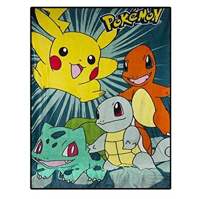 Pokemon Silky Soft Throw Blanket 40 X 50