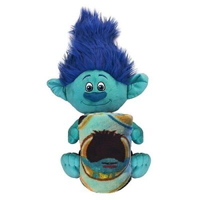 DreamWorks Trolls Branch Fleece Throw Blanket and Cuddle Plush Toy - Kids