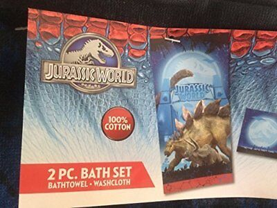Disney Jurassic World 2 Pc Bath Towel Wash Cloth Set