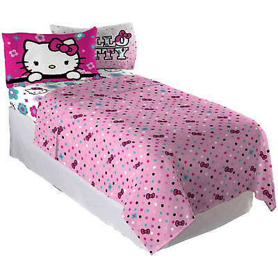 Hello Kitty Floral Ombre Full Sheet Set