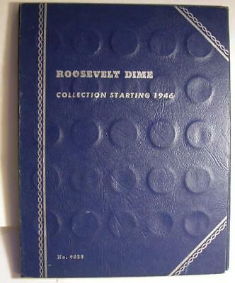 Roosevelt Silver Dimes 1946-1964 Complete 48 Silver IN Whitman Album  -M268